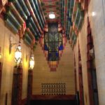 The artfully restored elevator lobby of the Guardian Building.