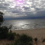 Lake Michigan from the shore in Holland, a lovely town south of Grand Rapids.