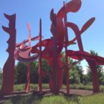 I would have named this sculpture Musical Notes even if the artist hadn't.