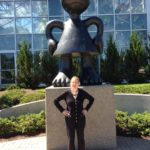 """I just had to capture this pose of Monica in front of a sculpture entitled """"Mad Mama."""""""