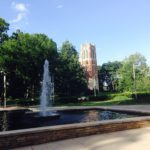 Checking out the Michigan State campus in East Lansing.