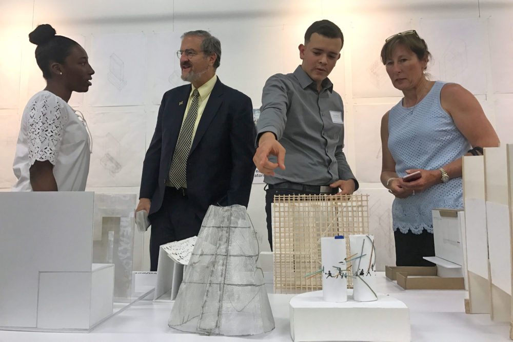 President Schlissel celebrates high school students who completed the Michigan Architecture Prep program