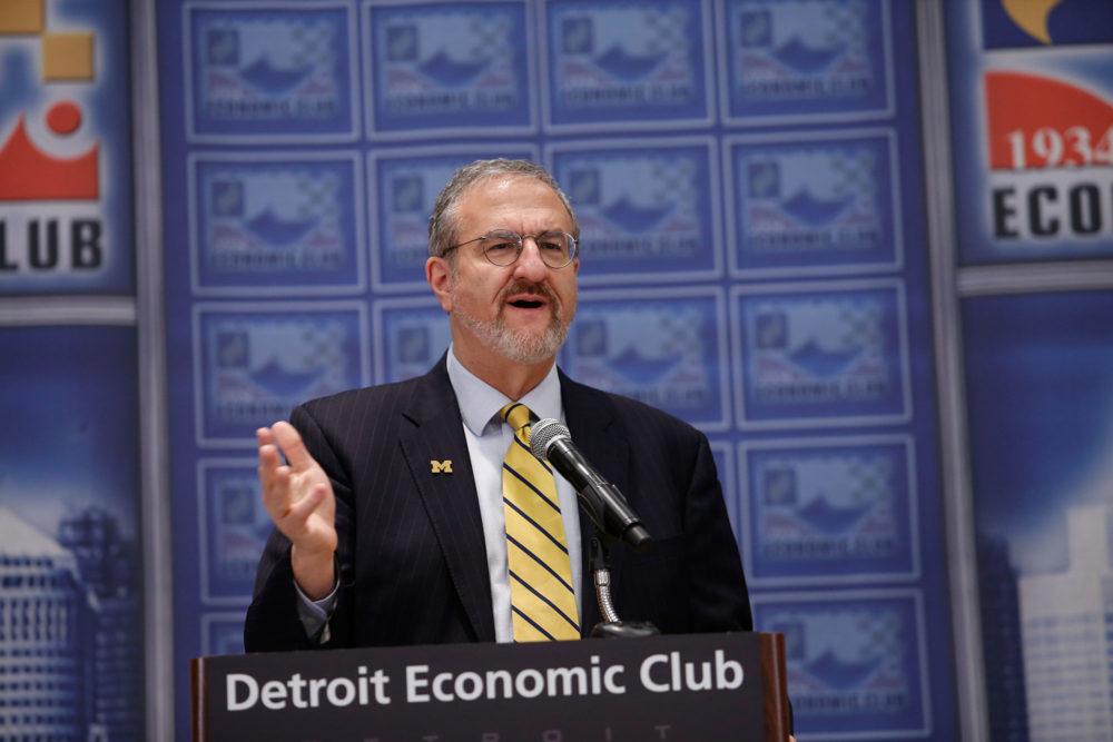 President Schlissel addresses the Detroit Economic Club
