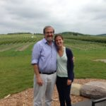 In the vineyard with my daughter, Elise.