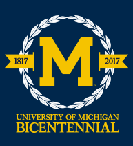 University of Michigan's bicentennial logo