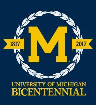 University of Michigan's bicentennial logo