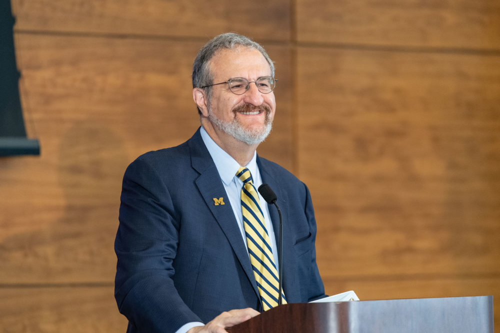 President Mark S. Schlissel speaking at the 2018 Leadership Breakfast