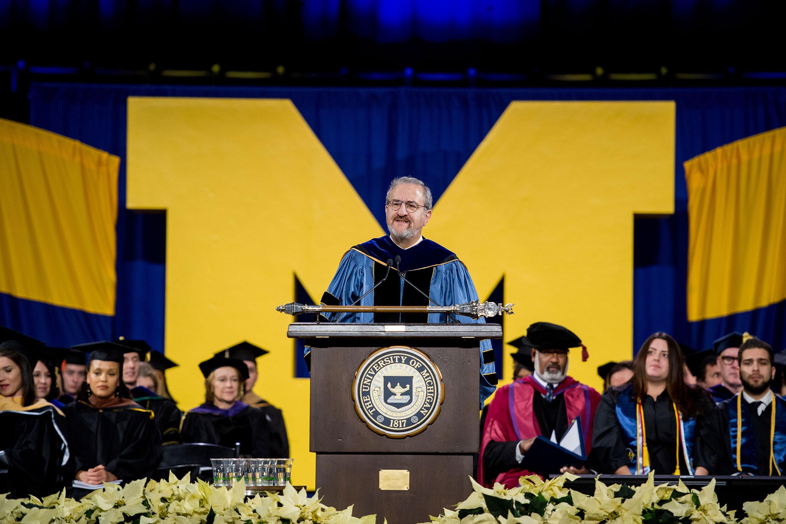 President Schlissel addresses graduates